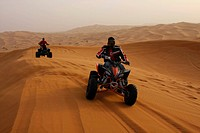 ALL TERRAIN VEHICLES AT THE DESERT SAFARI IN DUBAI