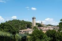France, Alpes de Haute_Provence, Provence, Côte d´Azure, St. Martin de Brôme, local view, trees, mountains, places, buildings, constructions, scenery,...