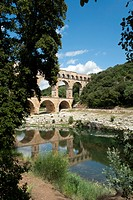 France, Gard, Languedoc_Roussillion, Pont du Gard, Roman, aqueduct, bridge, Pont du Gard, architecture, bridges, place of interest, landmark, rock, cl...