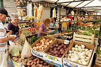 Makarska fruit and vegetable market, Croatia