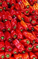 Close up of red peppers