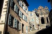 Notre Dame Cathedral in Puy en Velay  Auvergne region, France