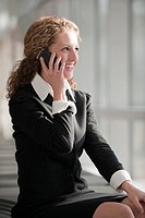 USA, Virginia, Virginia Beach, businesswoman talking on phone
