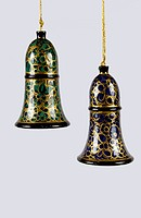 BELLS WITH NIRMAL PAINTING, ANDHRA PRADESH, INDIA
