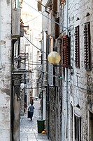 Narrow street, Sibenik, Croatia