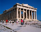 Athens _ The magnificant Parthenon which dates from 447 B C