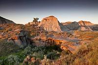 Badlands in Dinosaur Provincial Park, Alberta