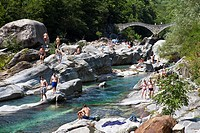 Lavertezzo, Valle Verzasca, Ticino, Switzerland