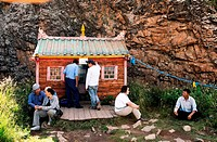 Mongolia, Ovorkhangai district, Orkhon valley, The Buddhist monastery of Tovklon founded in 1653 by Zanabazar is an importante place of pilgrimage for...