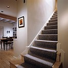 staircase to second floor in chicago townhouse