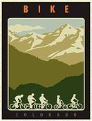 Biking in Colorado Poster