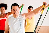 Gymnastik Training im Fitnessstudio