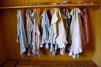 School coats, Old School, Skansen, Djurgården, Stockholm, Sweden, Scandinavia, Europe