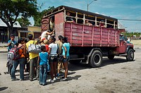 Carretera central main road, Camaguey, Camaguey province, Cuba.