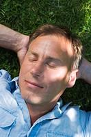 A Scandinavian man resting, Stockholm, Sweden.