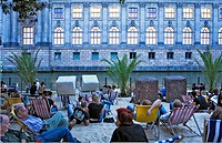 Stranbar Mitte Bar along the Spree River in Monbijoustr 3 Berlin  Germany