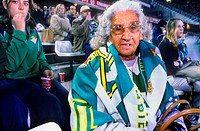 Fan of Real Betis Balompie  Grandmother of Betis In Betis stadium  Sevilla,spain