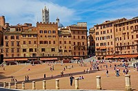 Siena, Piazza del campo  The Campo Square,Tuscany, Italy, Europe.