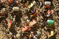 Rickshaws in Dhaka, the capital city of Bangladesh November 15, 2006