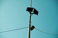 A loudspeaker on a pole, Sweden.