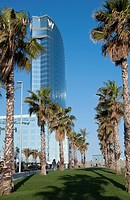 View of Vela Hotel in a sunny day Barcelone Spain (thumbnail)