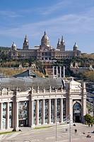 Spain, Catalonia, Barcelona, Plaça d´Espanya, Montjuich Palace, National Museum.