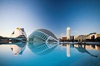 Spain-Valencia Comunity-Valencia City-The City of Arts and Science built by Calatrava-The Hemisferic and Palace of Arts Bldg