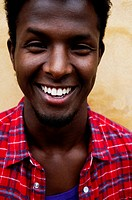 Close_up of man laughing