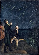 METEOR SHOWERS, 1799Alexander von Humboldt and Aime Bonpland observing a meteor shower on the northeastern coast of South America in 1799.