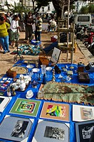 Antiques market, Cadaques, Alt Emporda, Costa Brava, Girona province, Catalonia, Spain.