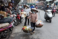 Busy Shopping Street, Hanoi, Vietnam