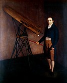 William Tulley, 19th_century British optics maker, with a telescope. Tulley, the son of Charles Tulley and elder brother of Thomas Tulley, was part of...