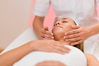 Body care _ woman luxury facial massage