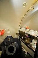 Bathroom, airplane, Brazil