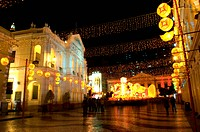 The santa casa de misericordia in the senado square in Macau