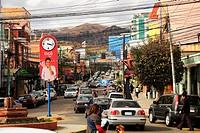 Street, traffic, trade, Bolivia