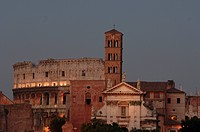 Ancient Rome´s skyline at sunset.