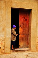 Door, man, entrance, Bolivia