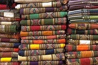colorful argentine blankets, purmamarca, jujuy, argentina