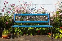 Blue Garden Bench, Roundstone, County Galway, Ireland