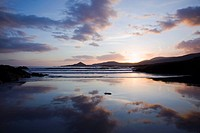 Sunset At Whitestrand Beach Near Castlecove, County Kerry, Ireland