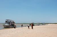 People, tourists, river, Delta Parnaíba, city, Parnaíba, Piauí, Brazil