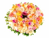 Beautiful wreath of roses