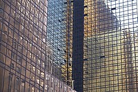 Layered reflections on a skyscraper