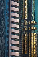 Decorative corners on skyscrapers