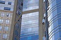 Contemporary glass skyscraper