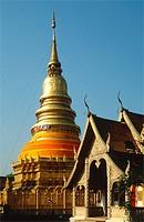 Thailand, Lamphun, Wat Phra That Haripunchai, buddhist temple,
