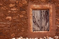 Photograph of a mud house in the village of Ait Benhaddou in Morocco