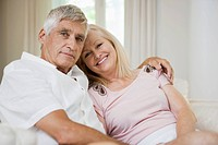 Portrait of cheerful senior couple