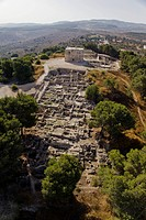 Aerial photograph of the archeologic site of Sepphoris in the lower Galilee